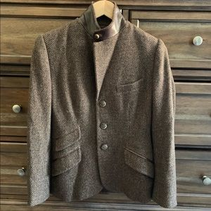 Ralph Lauren Cashmere Mix Leather Riding Blazer